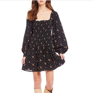 NWT Free People Two Faces Printed Mini Dress